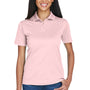 UltraClub Womens Cool & Dry Moisture Wicking Short Sleeve Polo Shirt - Pink