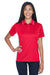 UltraClub 8406L Womens Cool & Dry Moisture Wicking Short Sleeve Polo Shirt Red/White Front