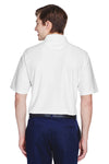 UltraClub 8413 Mens Cool & Dry Elite Performance Moisture Wicking Short Sleeve Polo Shirt White Back