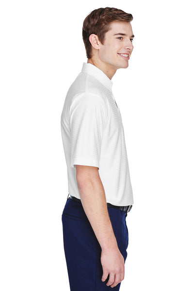 UltraClub 8413 Mens Cool & Dry Elite Performance Moisture Wicking Short Sleeve Polo Shirt White Side