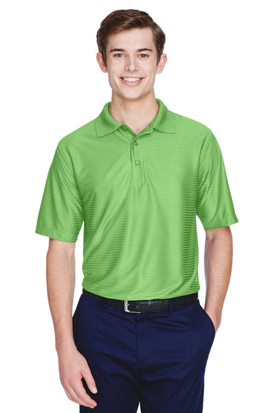 UltraClub 8413 Mens Cool & Dry Elite Performance Moisture Wicking Short Sleeve Polo Shirt Apple Green Front