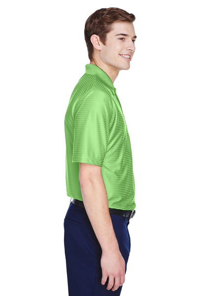 UltraClub 8413 Mens Cool & Dry Elite Performance Moisture Wicking Short Sleeve Polo Shirt Apple Green Side