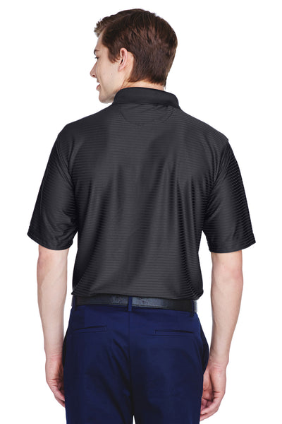 UltraClub 8413 Mens Cool & Dry Elite Performance Moisture Wicking Short Sleeve Polo Shirt Black Back
