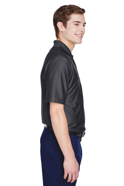 UltraClub 8413 Mens Cool & Dry Elite Performance Moisture Wicking Short Sleeve Polo Shirt Black Side