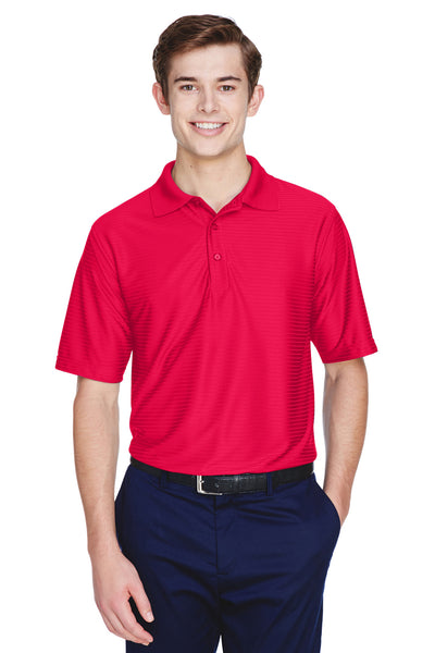 UltraClub 8413 Mens Cool & Dry Elite Performance Moisture Wicking Short Sleeve Polo Shirt Red Front