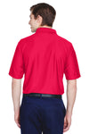 UltraClub 8413 Mens Cool & Dry Elite Performance Moisture Wicking Short Sleeve Polo Shirt Red Back