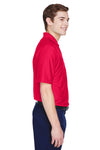 UltraClub 8413 Mens Cool & Dry Elite Performance Moisture Wicking Short Sleeve Polo Shirt Red Side