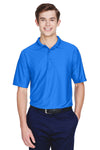 UltraClub 8413 Mens Cool & Dry Elite Performance Moisture Wicking Short Sleeve Polo Shirt Royal Blue Front