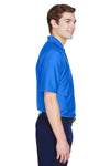UltraClub 8413 Mens Cool & Dry Elite Performance Moisture Wicking Short Sleeve Polo Shirt Royal Blue Side