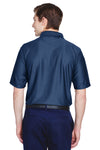 UltraClub 8413 Mens Cool & Dry Elite Performance Moisture Wicking Short Sleeve Polo Shirt Navy Blue Back