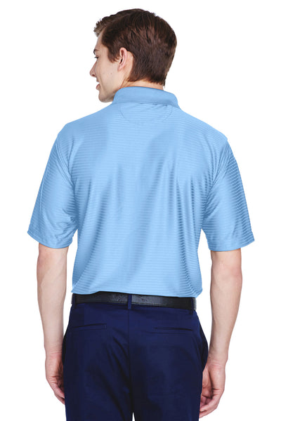 UltraClub 8413 Mens Cool & Dry Elite Performance Moisture Wicking Short Sleeve Polo Shirt Carolina Blue Back