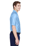 UltraClub 8413 Mens Cool & Dry Elite Performance Moisture Wicking Short Sleeve Polo Shirt Carolina Blue Side
