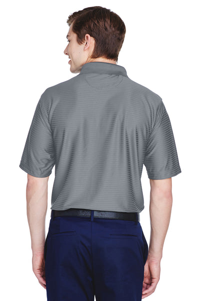 UltraClub 8413 Mens Cool & Dry Elite Performance Moisture Wicking Short Sleeve Polo Shirt Charcoal Grey Back