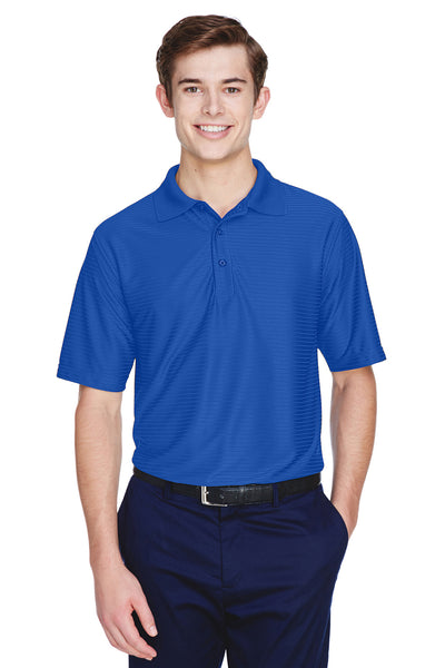UltraClub 8413 Mens Cool & Dry Elite Performance Moisture Wicking Short Sleeve Polo Shirt Cobalt Blue Front