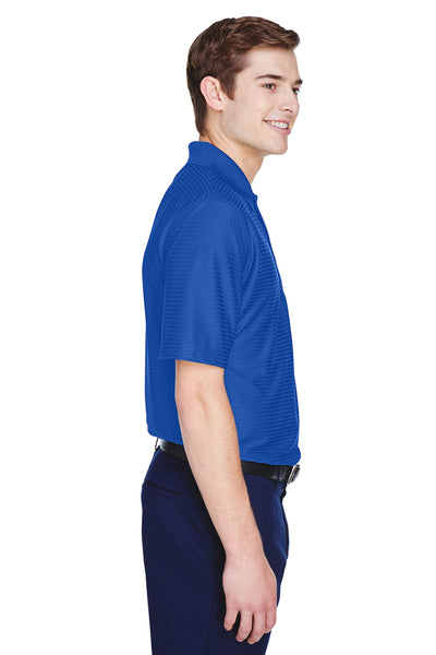 UltraClub 8413 Mens Cool & Dry Elite Performance Moisture Wicking Short Sleeve Polo Shirt Cobalt Blue Side
