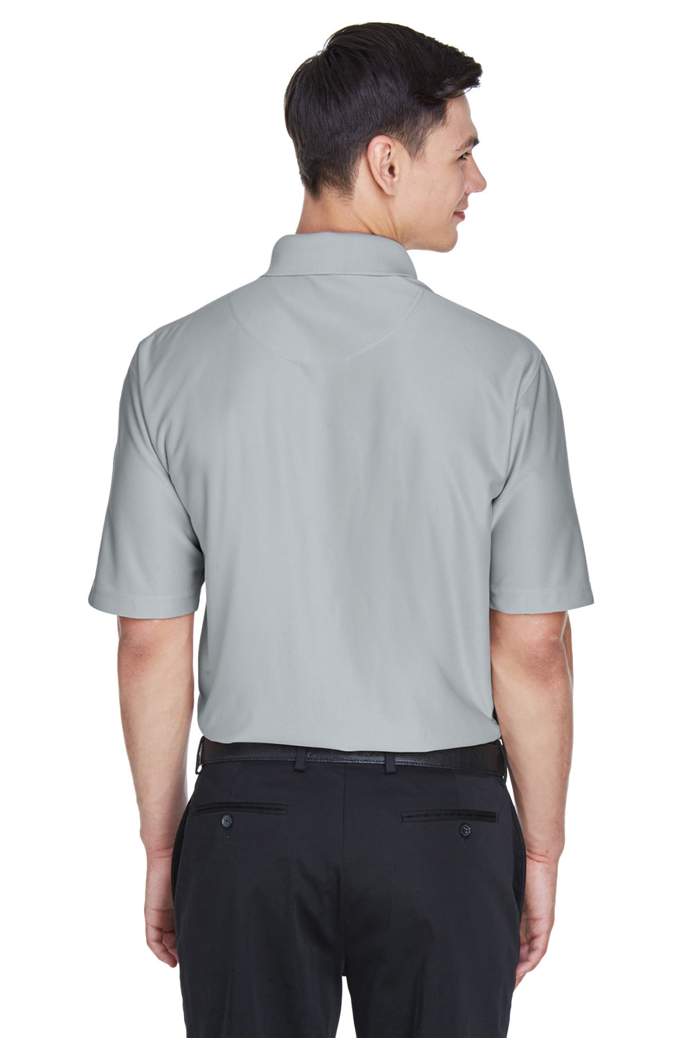 UltraClub 8415 Mens Cool & Dry Elite Performance Moisture Wicking Short Sleeve Polo Shirt Grey Back