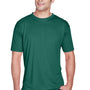 UltraClub Mens Cool & Dry Performance Moisture Wicking Short Sleeve Crewneck T-Shirt - Forest Green