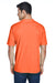 UltraClub 8420 Mens Cool & Dry Performance Moisture Wicking Short Sleeve Crewneck T-Shirt Bright Orange Back