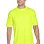 UltraClub Mens Cool & Dry Performance Moisture Wicking Short Sleeve Crewneck T-Shirt - Bright Yellow