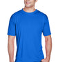UltraClub Mens Cool & Dry Performance Moisture Wicking Short Sleeve Crewneck T-Shirt - Royal Blue