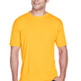 UltraClub Mens Cool & Dry Performance Moisture Wicking Short Sleeve Crewneck T-Shirt - Gold