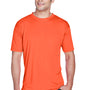 UltraClub Mens Cool & Dry Performance Moisture Wicking Short Sleeve Crewneck T-Shirt - Orange