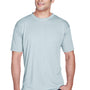 UltraClub Mens Cool & Dry Performance Moisture Wicking Short Sleeve Crewneck T-Shirt - Grey