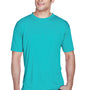 UltraClub Mens Cool & Dry Performance Moisture Wicking Short Sleeve Crewneck T-Shirt - Jade Green