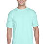 UltraClub Mens Cool & Dry Performance Moisture Wicking Short Sleeve Crewneck T-Shirt - Sea Frost Green