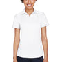 UltraClub Womens Cool & Dry Performance Moisture Wicking Short Sleeve Polo Shirt - White