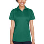 UltraClub Womens Cool & Dry Performance Moisture Wicking Short Sleeve Polo Shirt - Forest Green