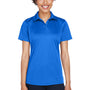 UltraClub Womens Cool & Dry Performance Moisture Wicking Short Sleeve Polo Shirt - Royal Blue