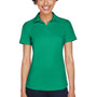 UltraClub Womens Cool & Dry Performance Moisture Wicking Short Sleeve Polo Shirt - Kelly Green