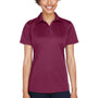 UltraClub Womens Cool & Dry Performance Moisture Wicking Short Sleeve Polo Shirt - Maroon