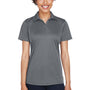 UltraClub Womens Cool & Dry Performance Moisture Wicking Short Sleeve Polo Shirt - Charcoal Grey