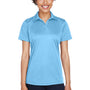UltraClub Womens Cool & Dry Performance Moisture Wicking Short Sleeve Polo Shirt - Columbia Blue