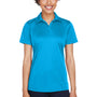 UltraClub Womens Cool & Dry Performance Moisture Wicking Short Sleeve Polo Shirt - Sapphire Blue