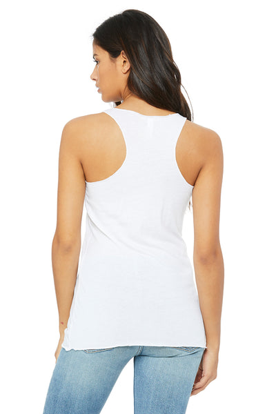 Bella + Canvas 8430 Womens Tank Top Solid White Back
