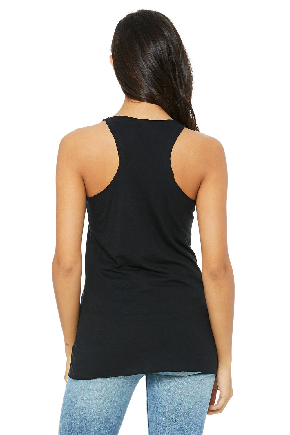 Bella + Canvas 8430 Womens Tank Top Solid Black Back
