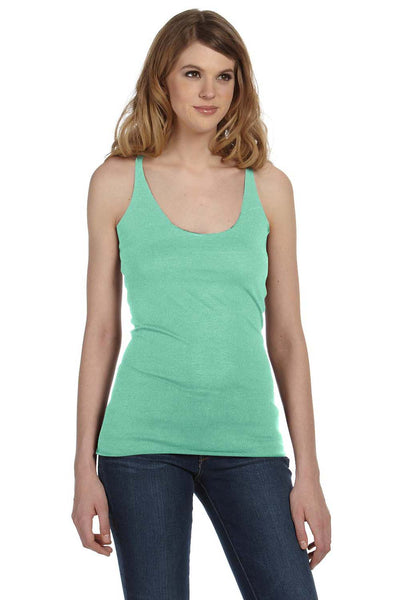 Bella + Canvas 8430 Womens Tank Top Green Front