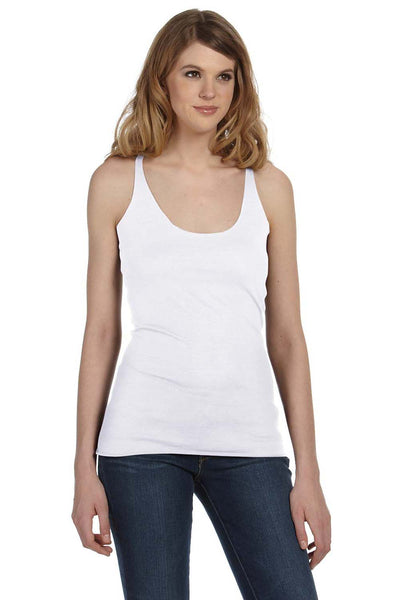 Bella + Canvas 8430 Womens Tank Top White Fleck Front