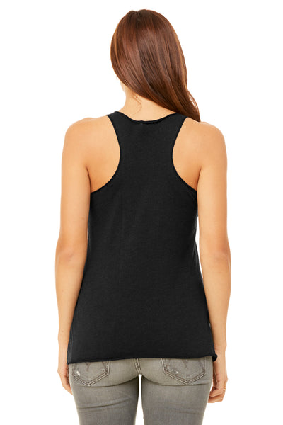 Bella + Canvas 8430 Womens Tank Top Heather Black Back