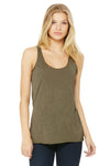 Bella + Canvas 8430 Womens Tank Top Olive Green Front