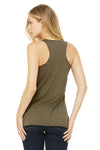 Bella + Canvas 8430 Womens Tank Top Olive Green Back