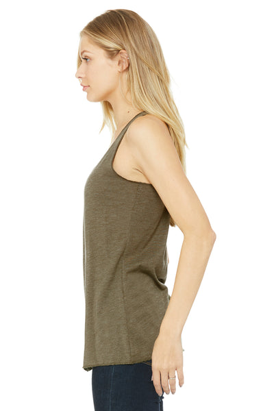 Bella + Canvas 8430 Womens Tank Top Olive Green Side