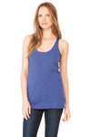 Bella + Canvas 8430 Womens Tank Top Navy Blue Front