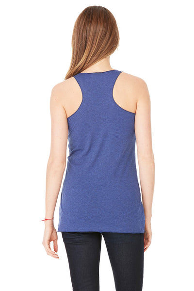 Bella + Canvas 8430 Womens Tank Top Navy Blue Back