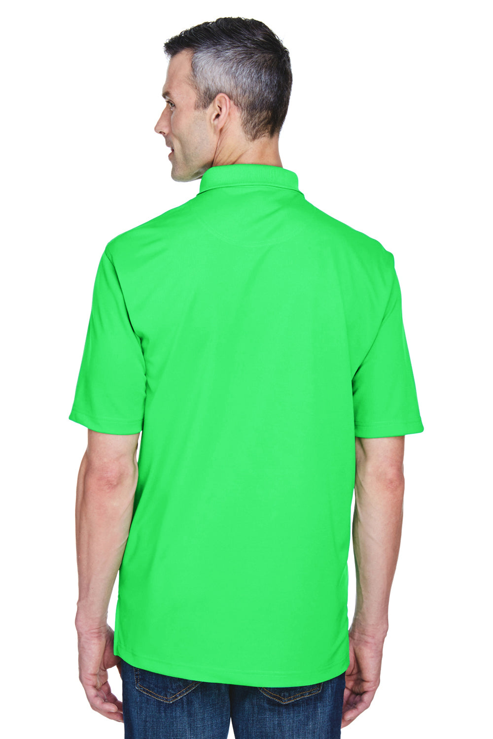 UltraClub 8445 Mens Cool & Dry Performance Moisture Wicking Short Sleeve Polo Shirt Cool Green Back