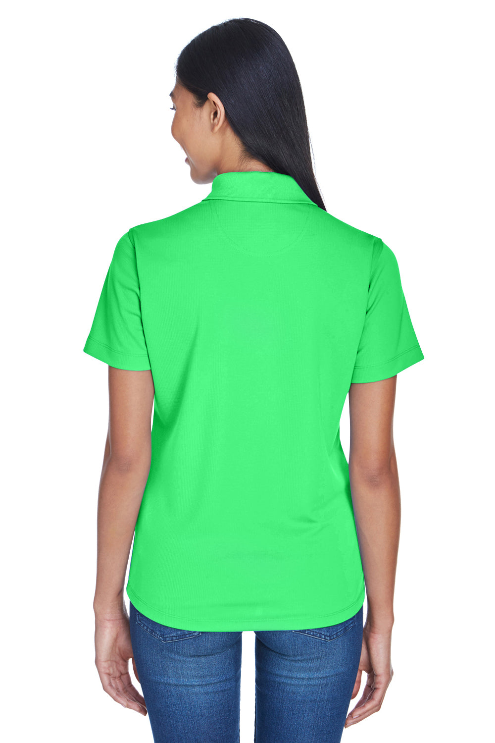 UltraClub 8445L Womens Cool & Dry Performance Moisture Wicking Short Sleeve Polo Shirt Cool Green Back