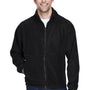 UltraClub Mens Iceberg Full Zip Fleece Jacket - Black